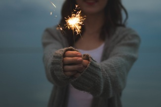 light-person-woman-fire